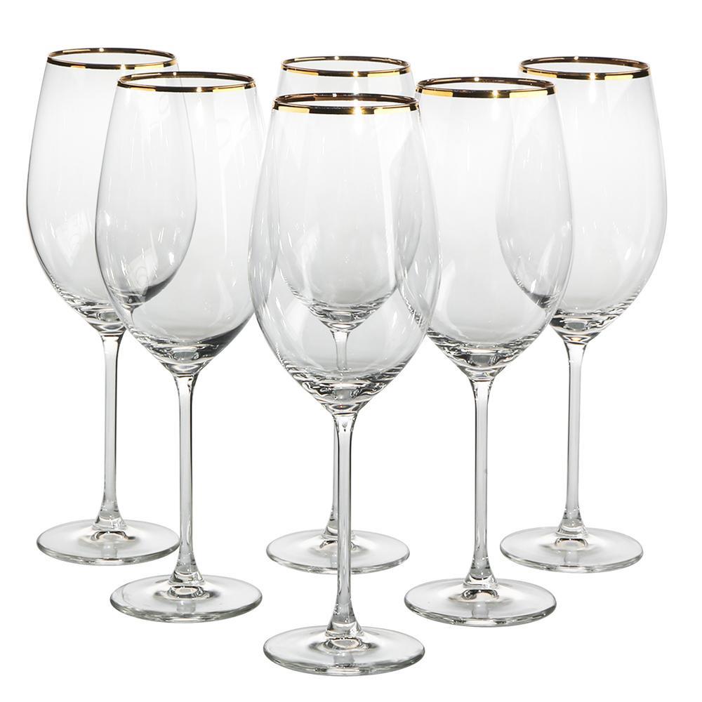 Set 6 pahare de vin Onyx 400ml imagine 2021 insignis.ro