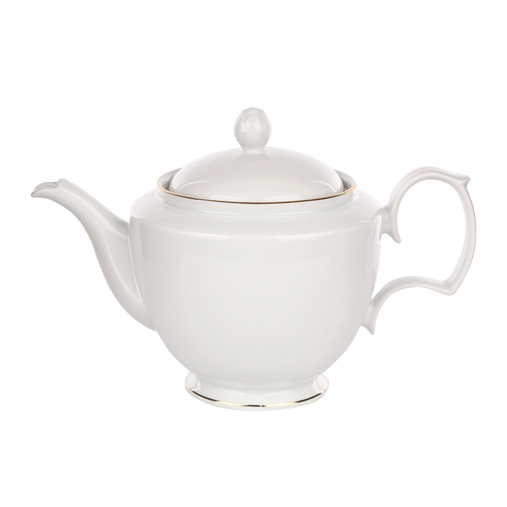 Ceainic din portelan MariaPaula GoldenLine 1.2L imagine 2021 insignis.ro