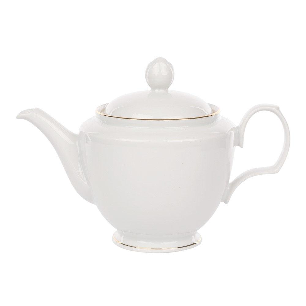 Ceainic din portelan MariaPaula GoldenLine 600ml imagine 2021 insignis.ro