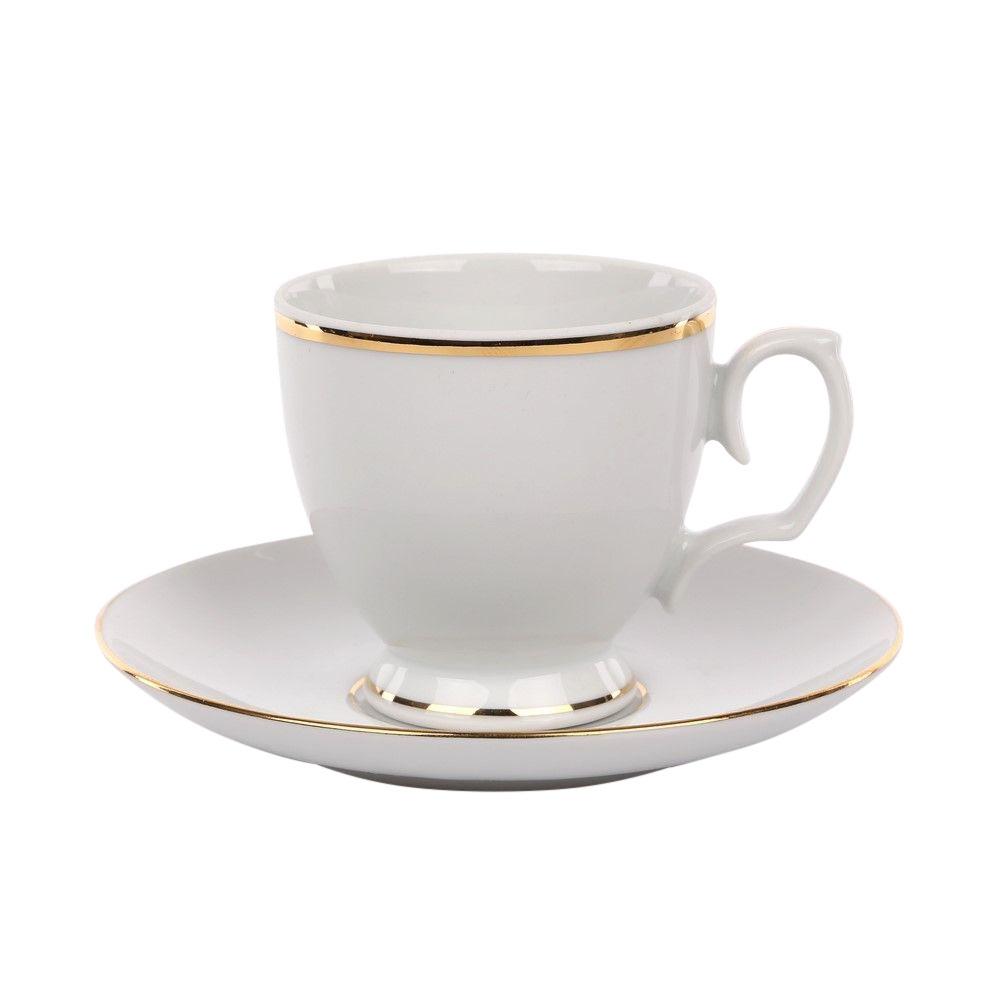 Set cafea/espresso 6 persoane din portelan MariaPaula GoldenLine 12piese imagine 2021 insignis.ro