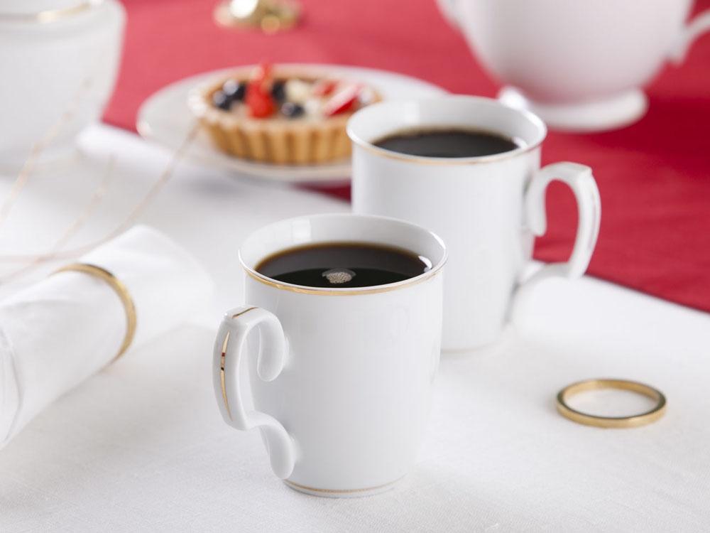 Set ceai/cafea din portelan MariaPaula GoldenLine 360ml imagine 2021 insignis.ro