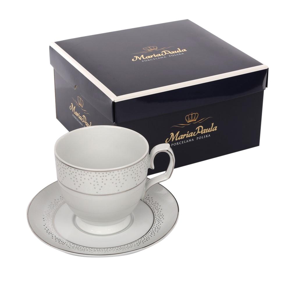 Ceasca de cafea si farfurie din portelan MariaPaula Snow 350ml imagine 2021 insignis.ro