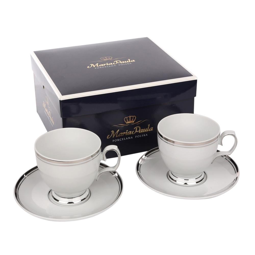 Set cafea 2 persoane din portelan MariaPaula PlatinumLine 4 piese imagine 2021 insignis.ro