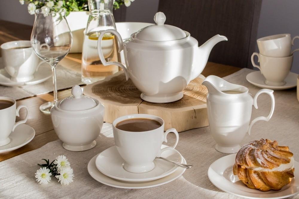 Serviciu de cafea/ceai 12 persoane din portelan MariaPaula Ecru 39 piese imagine 2021 insignis.ro