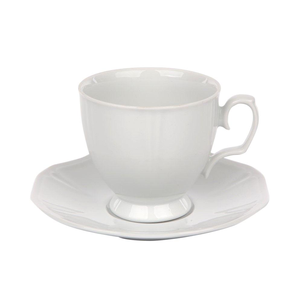 Servici cafea 6 persoane din portelan Geometria Bianco 12 piese imagine 2021 insignis.ro