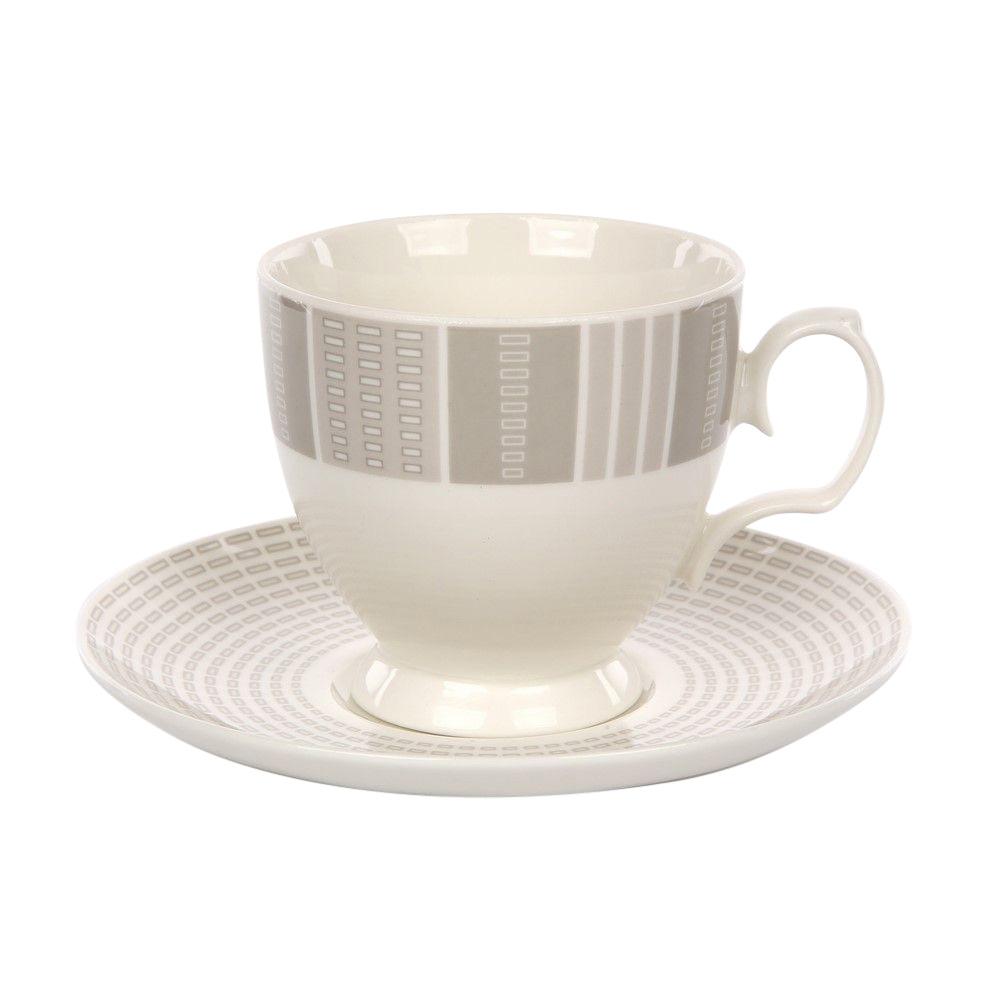Ceasca cafea si farfurie din portelan MariaPaula Alison 220ml imagine 2021 insignis.ro