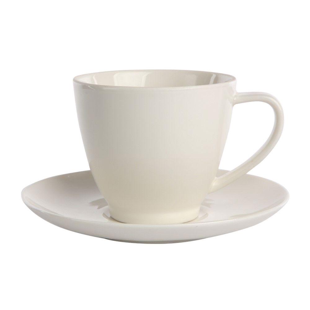 Serviciu cafea/ceai 6 persoane din portelan MariaPaula Ecru Nova 12piese imagine 2021 insignis.ro