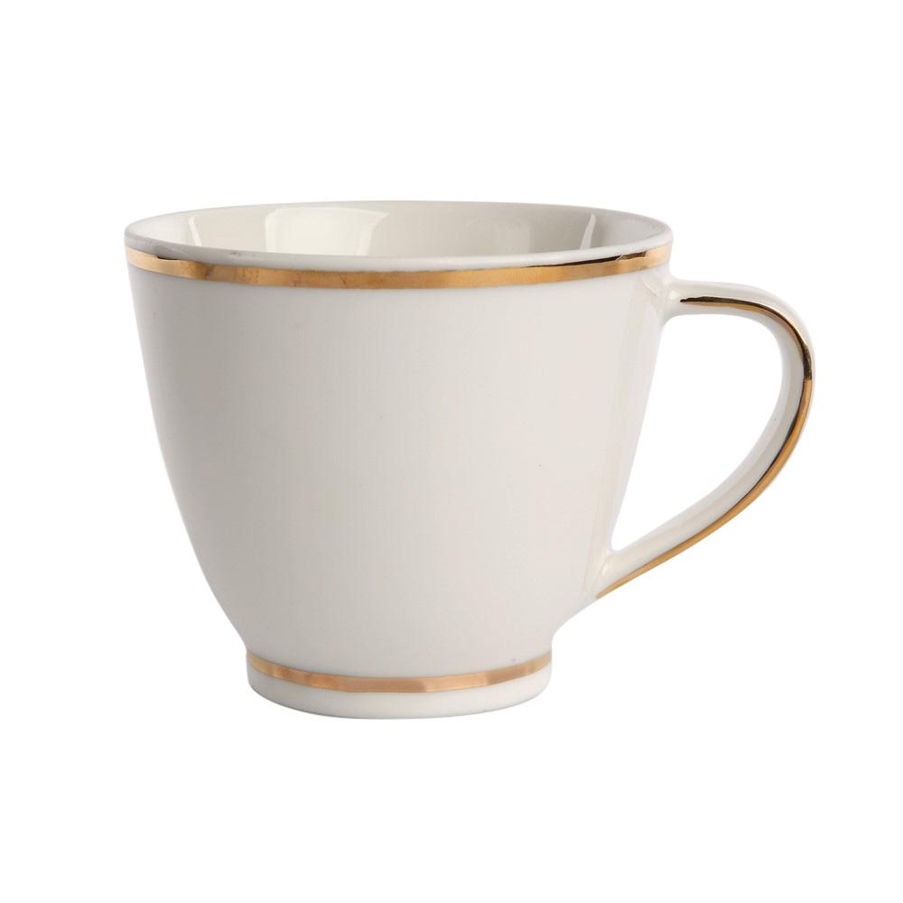 Ceasca cafea din portelan Ecru Nova GoldLine 250ml imagine 2021 insignis.ro