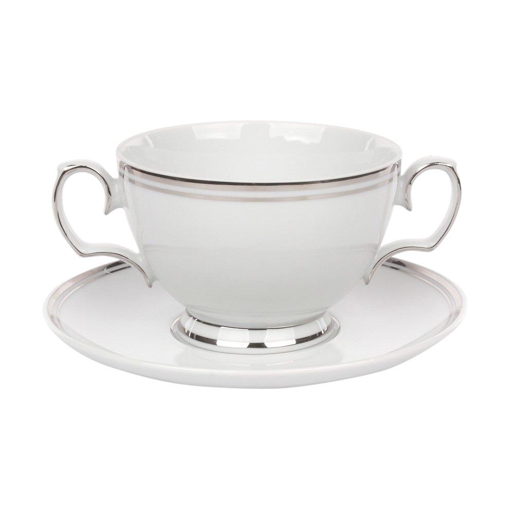 Set boluri pentru supa 6 persoane din portelan MariaPaula PlatinumLine 12piese imagine 2021 insignis.ro